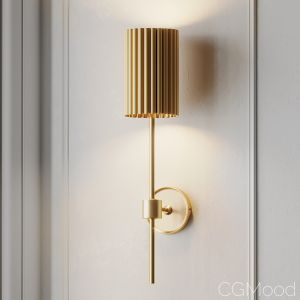 Fluted Gold Wall Sconce By Cb2 Exclusive