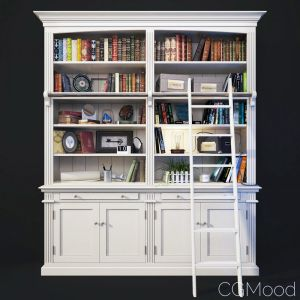 Bookcase With Ladder In White. Amandine
