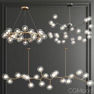 Giffin Minosi Bubbles Chandelier - 3 Type