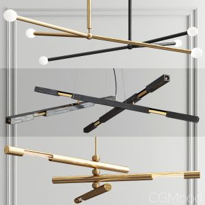 Brass System Chandelier - 3 Type