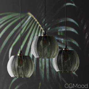 Louis Green Glass Pendant Light