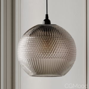 Mandie Grey Textured Glass Pendant Light