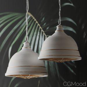 Bartlett Wide French White Pendant Light