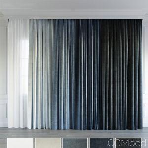 Blue Gradient Curtain