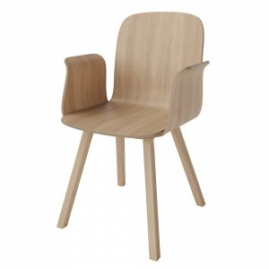 Palm Veneer Dining Chair With Armrest