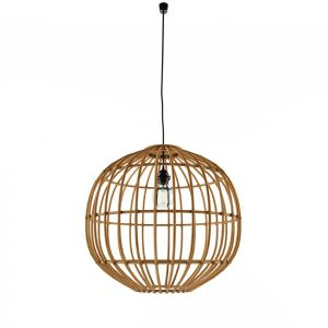 Country Pendant Lamp Natural Bamboo Cane Ball 50