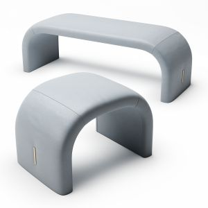 Turri Eclipse Bench And Pouf