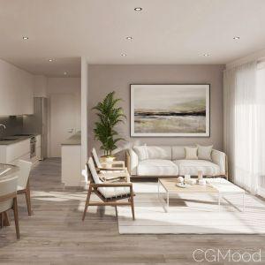 Living Room & Kitchen Full Scene
