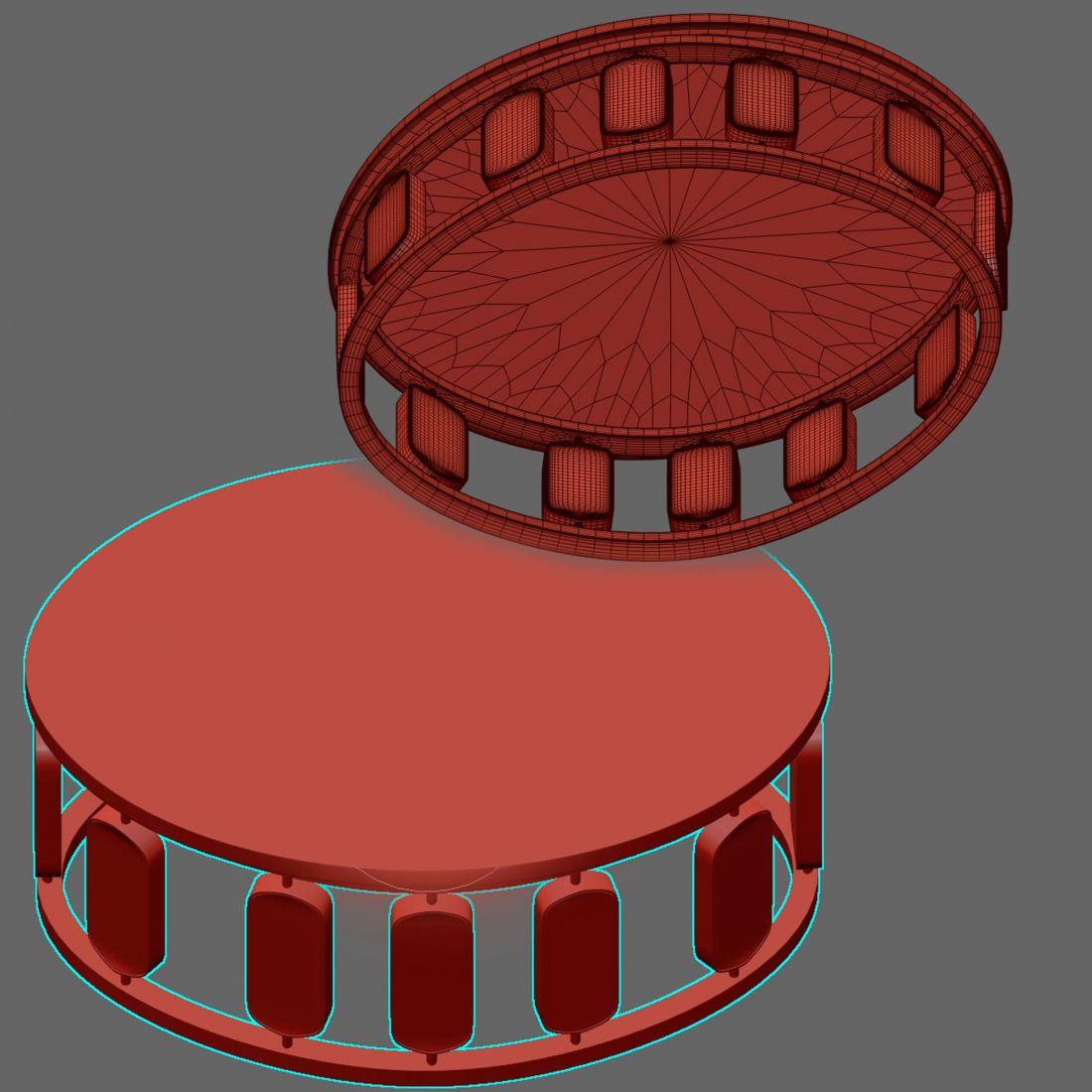 Sultana Center Table - 3D Model for VRay