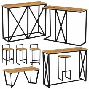 Furniture Made Of Metal And Wood | Bar Furniture