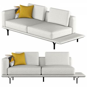 Nocelle 3 Seater Sofa With Side Table