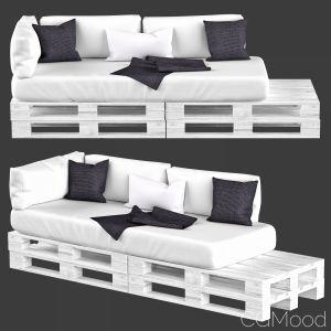 Pallet Sofa   White Wood