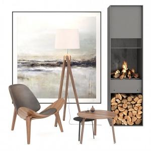 Fireplace Corner Scene