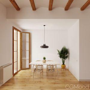 Modern Architect Dining Room Scene