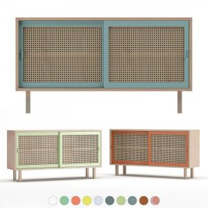 Colonel Straw Sideboard Set