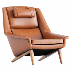 Danish Reupholstered Lounge Chair