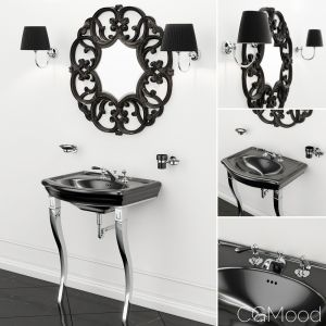 Sink New Etoile Marlene Console And Mirror Black
