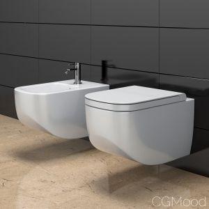 Toilet Bowl And Bidet Hatria Next