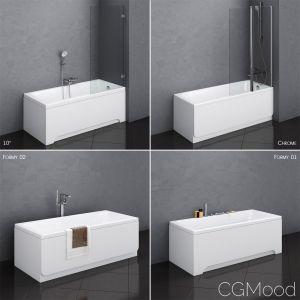 Set Of Baths Ravak Set 13 -10 -chrome -formy 01