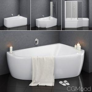 Set Of Baths Ravak Set 14 -lovestory -chrome -rosa