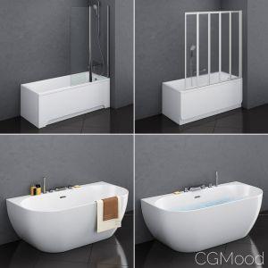 Set Of Baths Ravak Set 17 - Classic And Freedom W
