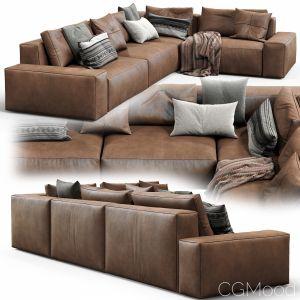 Jesse Leather Sofa Daniel (composition 6)