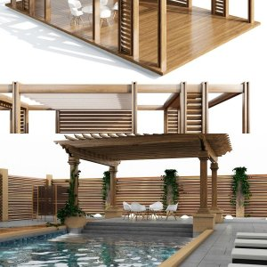 outdoor pergola pool