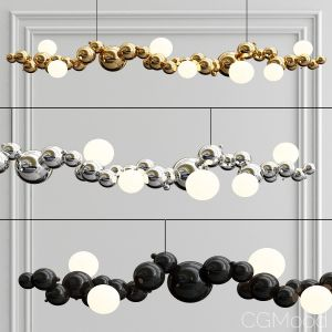 Bubbly 08-light Linear Pendant Light