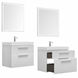 Nova Lite 75/90 White (2 Drawers)