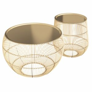 Zara Home Golden Table With Tray