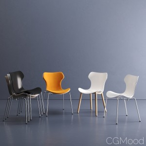 Papilio Shell chair by B&B Italia