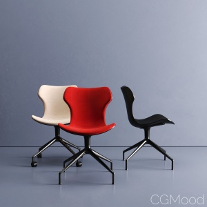 Papilio Shell chair office by B&B Italia