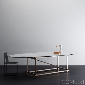 Elliptical Dining Table for Italgraniti