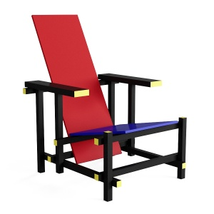 Red and Blue armchair by Cassina