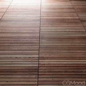 Teak Floor, worn out (PBR)