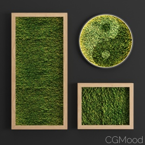 Stabilized moss set 01