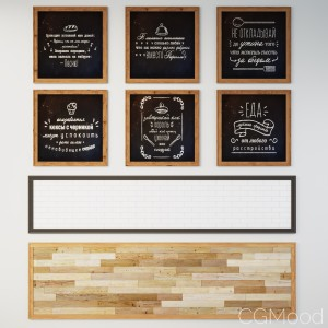 Chalk Boards With Russian Food Phrases