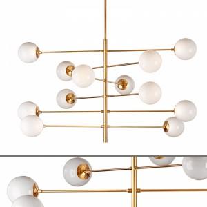 Brass Globe Chandelier Eichholtz Tortora