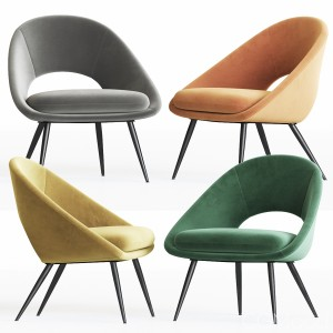 Rendle Modern Partially Open Accent Chair