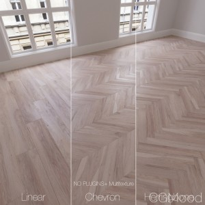 Parquet natural, pecan Bright, 3 types.
