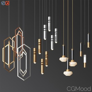 Four Hanging Light Set 05
