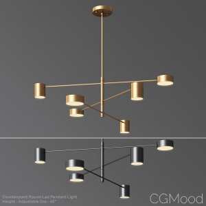 Counterpoint Round Led Pendant Light