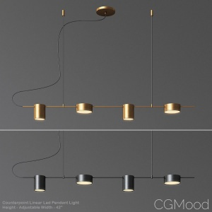 Counterpoint Linear Led Pendant Light
