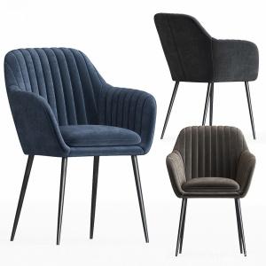 Deephoue Chair Lausanne Sea Blue Velvet