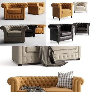 Chesterfield Sofa and Armchair Collection