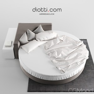 Wheel Round Bed By Diotti