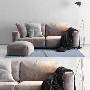Flexform Sofa And Pouf