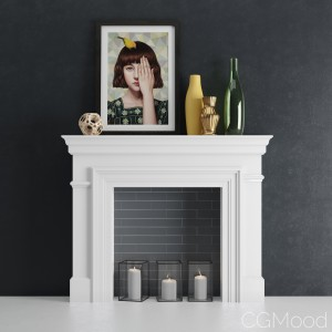 Fireplace with decor