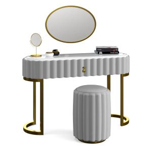 Dressing Table & Vanity Set With Drawer Mirror