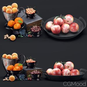 Decorative Set Of Berries And Fruits
